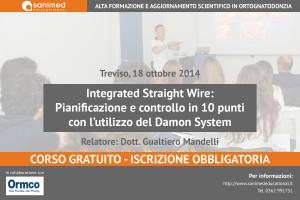 Integrated Straight Wire: Pianificazione e controllo in 10 punti con l'utilizzo del Damon System (Treviso)